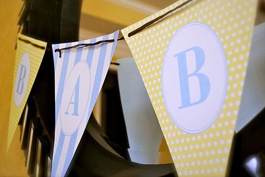 Alphabet Theme Baby Shower