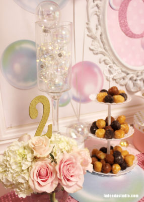 bubble theme party, custom events atlanta, kids parties, toddler party, bubbles, la dee da
