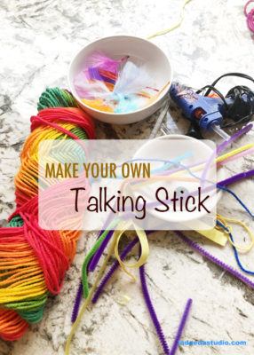 Talking Stick, Mindfulness for kids, Art Studio, La Dee Da